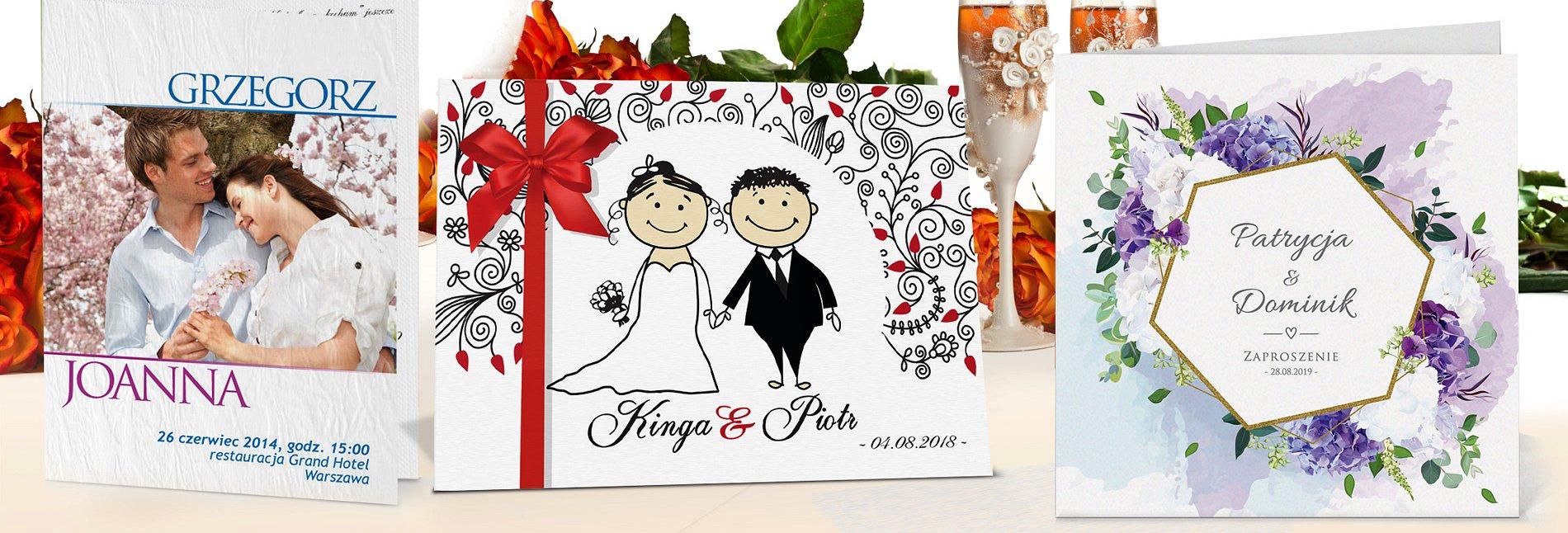 Zaproszenia ślubne z personalizacją