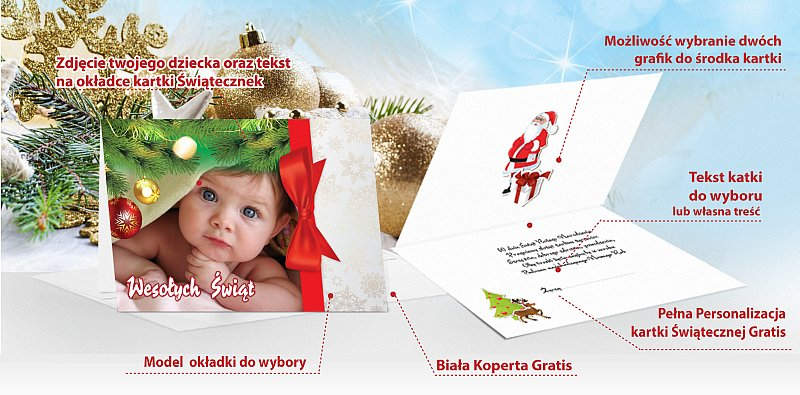 Fotokartki świąteczne opis - model 13