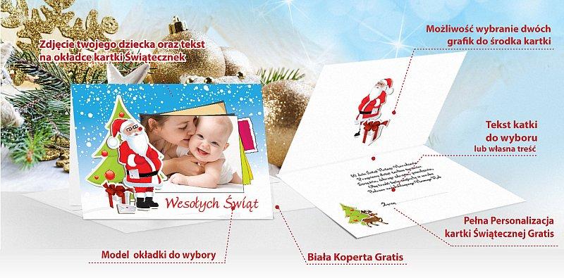 Kartki świąteczne dla dzieci  - model 15