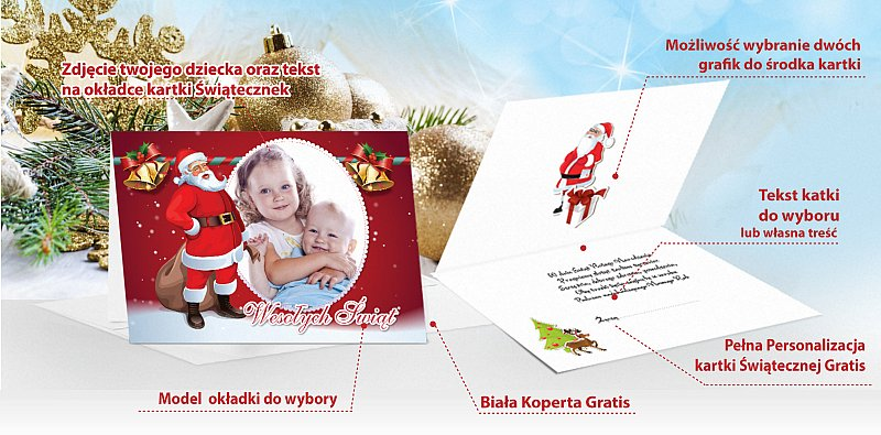 Kartki świąteczne opis - model 1