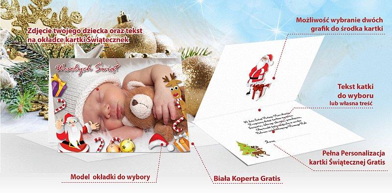 Kartki świąteczne foto opis - model 6