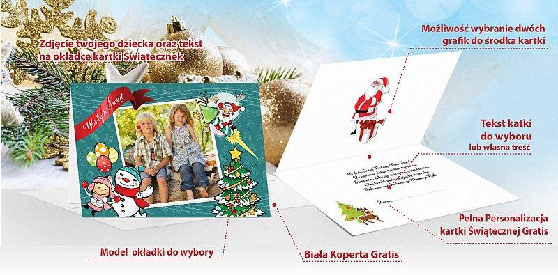 Kartki świąteczne ze zdjęciem - model 16