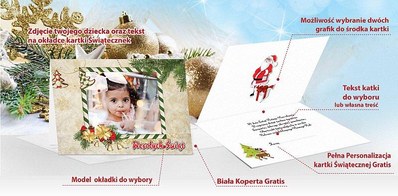 Kartki świąteczne ze zdjęciem - model 18