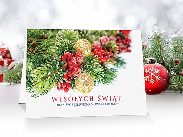 Kartki Świąteczne Firmowe model 24