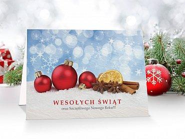 Kartki świąteczne z logo - model 8