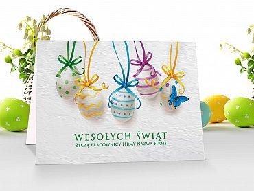 Kartki Wielkanocne firmowe z logo - model 10
