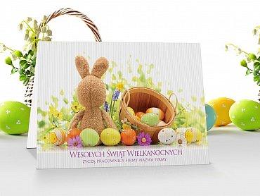 Kartki świąteczne Wielkanocne z logo - model 11