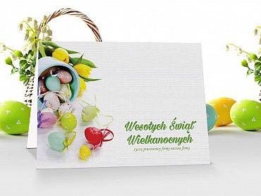 Kartki świąteczne Wielkanocne z logo - model 12
