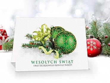 Kartki świąteczne z własnym Logo dla Firm - model 52