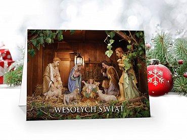 Kartki świąteczne z logo model 55