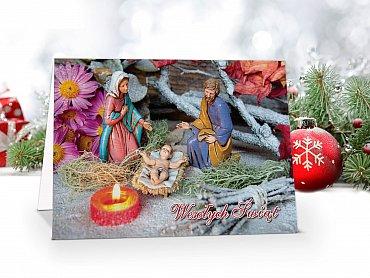 Kartki świąteczne z własnym Logo dla Firm - model 57