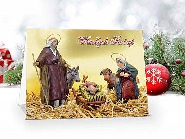 kartki świąteczne z motywem religijnym - model 61