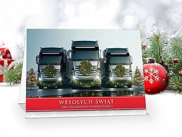 Kartki świąteczne dla Firm z Tirem- model 62