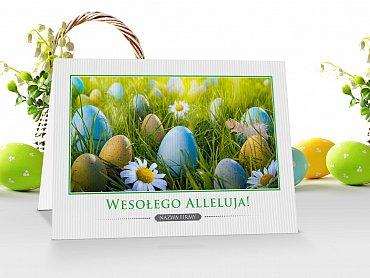 Kartki Wielkanocne firmowe z logo - model 7