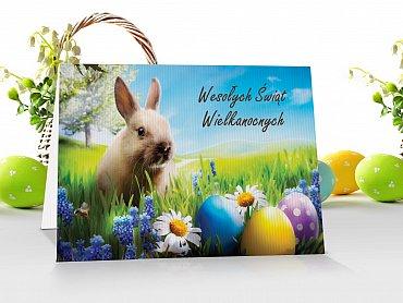 Kartki Wielkanocne firmowe z logo - model 9