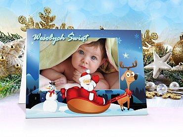 Kartki świąteczne ze zdjęciem opis - model 7