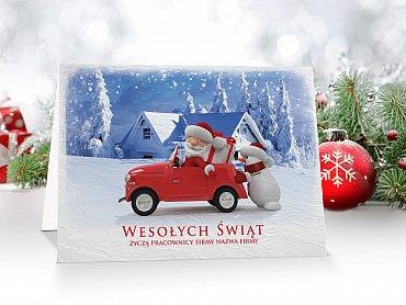Kartki świąteczne firmowe z logo - model 50
