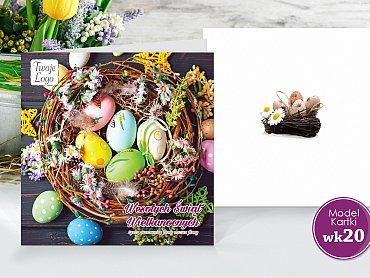 Kartki Wielkanocne Firmowe Model wk20