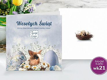 Kartki Wielkanocne Firmowe Model wk21
