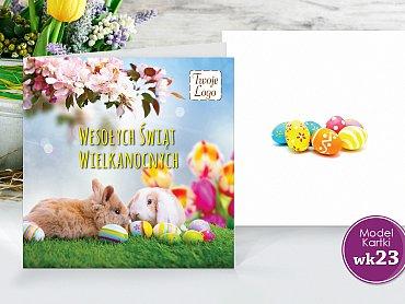 Kartki Wielkanocne Firmowe Model wk23