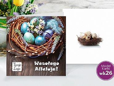 Kartki Wielkanocne Firmowe Model wk26