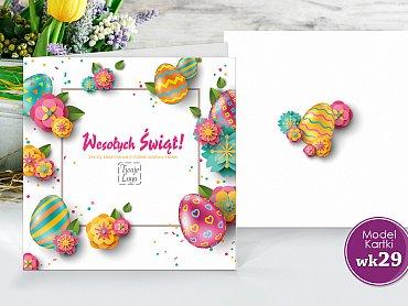 Kartki Wielkanocne Firmowe Model wk29