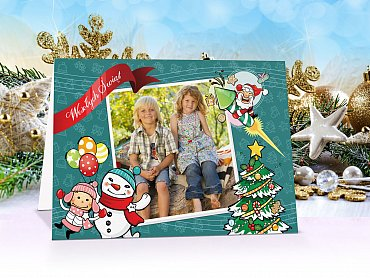 FotoKartki Świąteczne ze zdjęciem - model 16