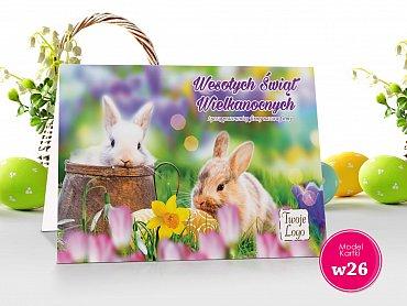 Kartki Wielkanocne Firmowe Model w26