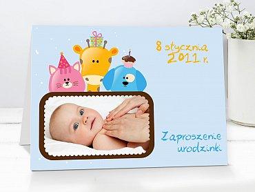 Zaproszenia urodzinowe dla dzieci Model r25