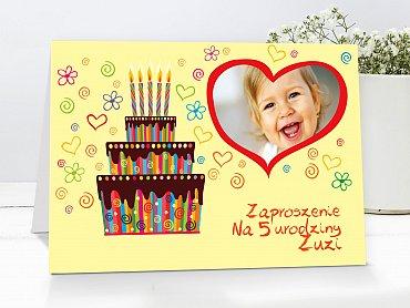 Zaproszenia urodzinowe dla dzieci Model r28