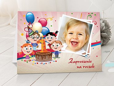 Zaproszenia urodzinowe dla dzieci Model r35
