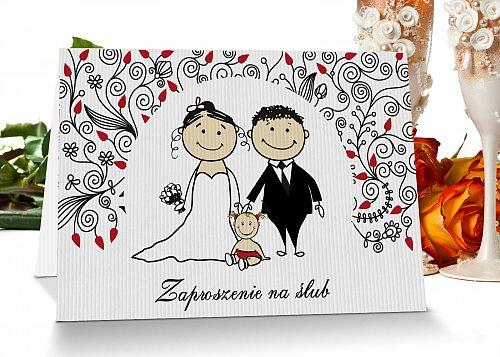 Zaproszenia ślubne mode 11 z dzieckiem