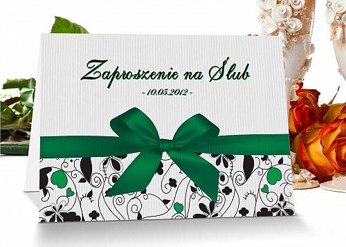 Zaproszenia ślubne 2 zielony