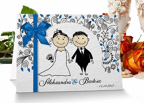 Zaproszenia ślubne 4 niebieski