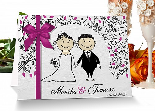 Zaproszenia ślubne 4 różowy