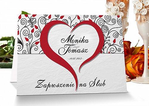 Zaproszenia ślubne - Model 5 czerwony