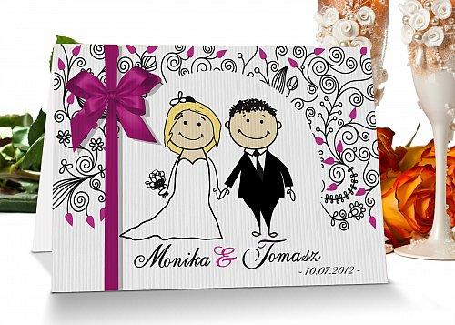 Zaproszenia ślubne 7 różowy