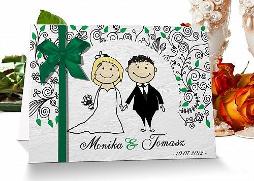Zaproszenia ślubne 7 zielony