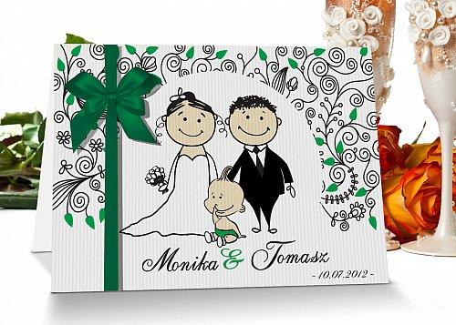 Zaproszenia ślubne 8 zielony