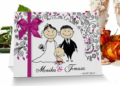 Zaproszenia ślubne - Model 8 różowy - polecany na ślub i chrzciny