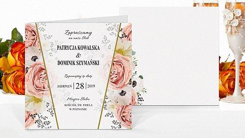 Zaproszenia ślubne Rustykalne kw3