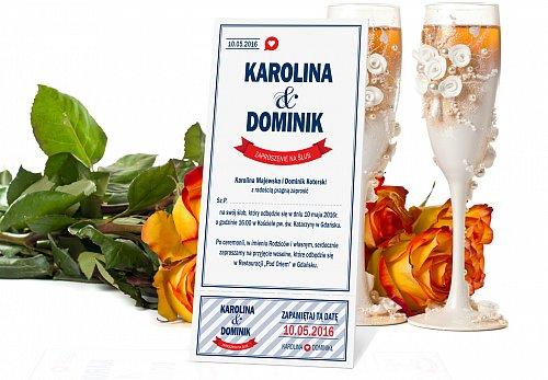 Zaproszenia Ślubne w formie Biletów - model 7