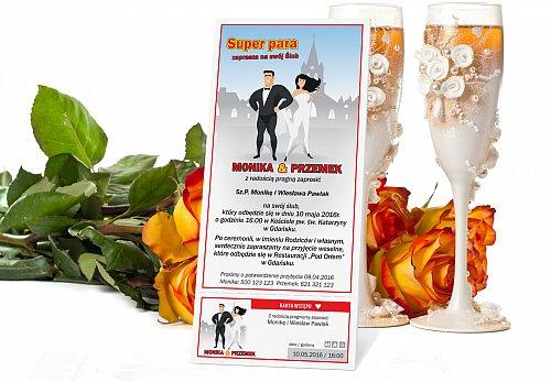 Zaproszenia Ślubne w formie Biletów - model 8