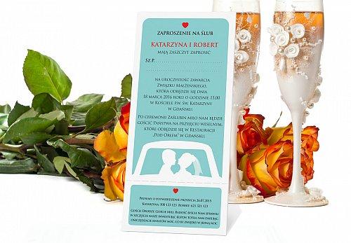Zaproszenia Ślubne w formie Biletów - model 9