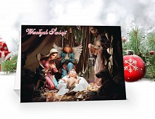 Kartki świąteczne z motywem religijnym - model 59