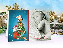 Fotokartki świąteczne opis - model 1