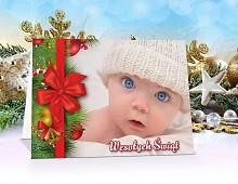 Kartki świąteczne ze zdjęciem - model 9