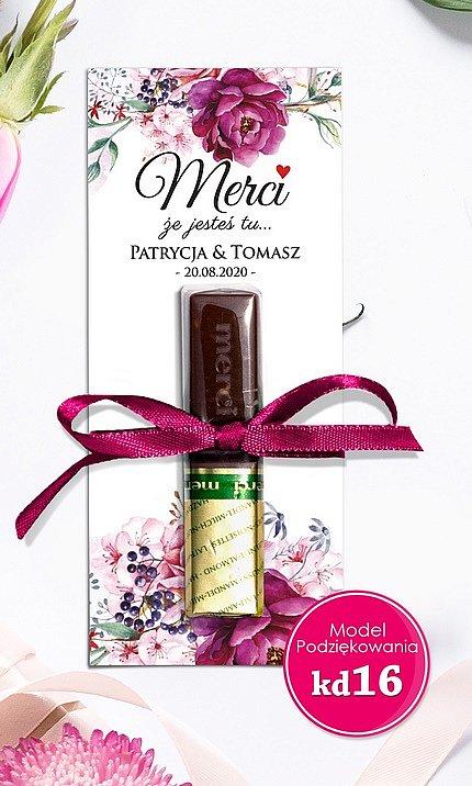 Podziękowania czekoladki dla gości Merci Model mc15
