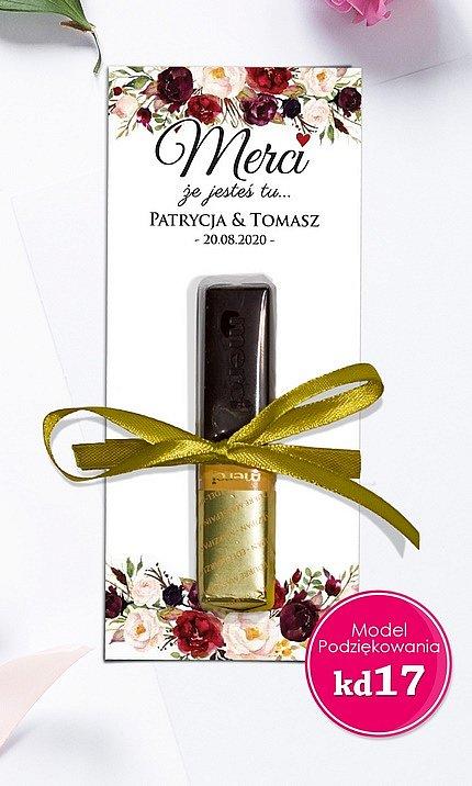 Podziękowania czekoladki dla gości Merci Model mc17